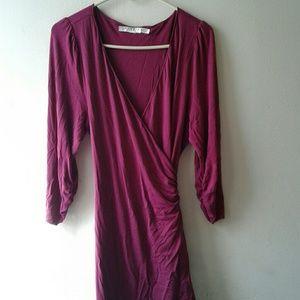Studio M Woman Maroon Wrap Dress sz M
